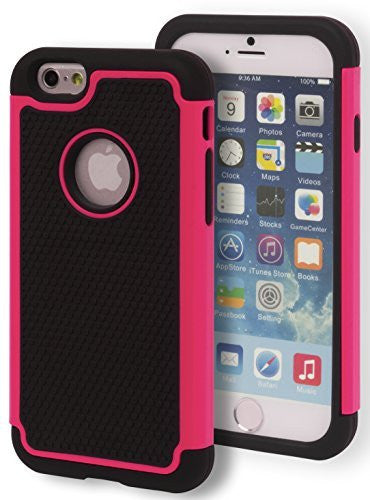 iPhone 6 Black with Pink Trim Protective Case - BastexShop