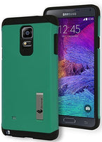 Samsung Galaxy Note 4, Hybrid Durable Teal and Black Kickstand Case Cover - BastexShop