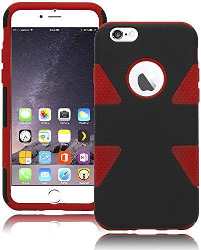 "Dynamic Black  Case + Red  Silicone Cover  iPhone 6, 4.7"" - BastexShop"