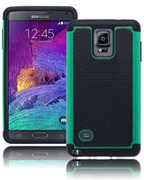 Samsung Galaxy Note 4 Hybrid  Black Cover with TealBlack Shock Case - BastexShop