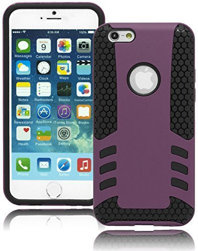 "Black Honeycomb Silicone Cover with Purple Case  iPhone 6, 4.7"" - BastexShop"