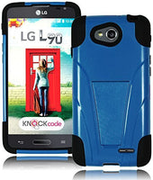 Blue Hybrid Kickstand  Case+Black Silicone Gel Cover  LG Optimus L90 D415 - BastexShop
