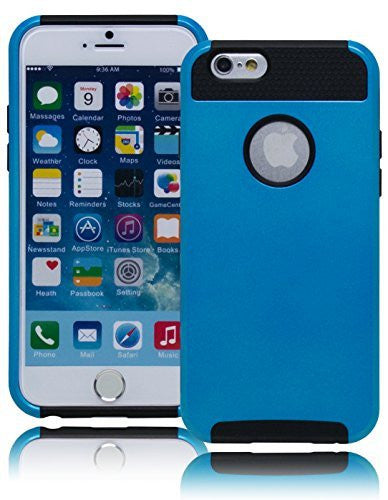 "Durable  Sky Blue and Black Hybrid Case Cover  iPhone 6, 4.7"" - BastexShop"