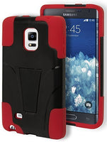 Samsung Galaxy Note Edge Hybrid Protective Durable Red Black Kickstand Case - BastexShop