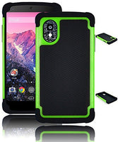 Hybrid Case  LG Nexus 5 - Black Silicone Cover with Neon - BastexShop