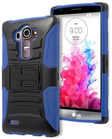 LG G4 Phone Case,    Hybrid Royal Blue Silicone Cover  Bla - BastexShop