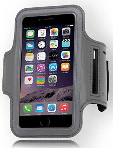 Runners Sporty Silver Armband with Key Holder  iPhone 6, 4.7""
