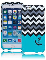 "Snap On Sky Blue Anchor with Chevron Design Case  iPhone 6, 4.7"" - BastexShop"
