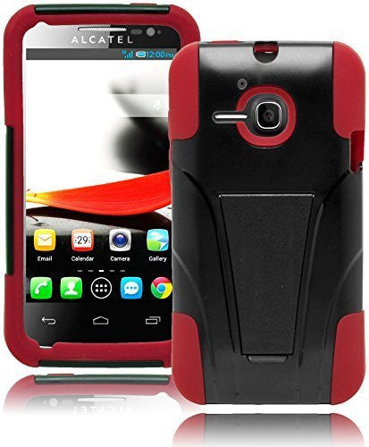 Hybrid Durable Protective BlackRed  Case Cover  Alcatel One Touch Evolve - BastexShop