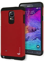 Samsung Galaxy Note 4, Hybrid Tough Armor Red and Black Protective  Case - BastexShop