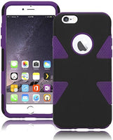 "Dynamic Black  Case+Purple  Silicone Cover  iPhone 6, 4.7"" - BastexShop"