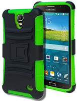 Samsung Galaxy Mega 2 750F Hybrid  Black Cover  Green Holster Case - BastexShop