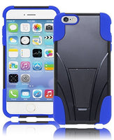 "Hybrid Black Kickstand Case Cover+Royal Blue Silicone  iPhone 6 Plus, 5.5"" - BastexShop"