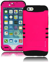 "Protective Hybrid Pink and Black Kickstand Case  iPhone 6, 4.7"" - BastexShop"