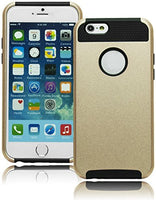 "Protective TPU Black  Silicone and Gold Case  iPhone 6, 4.7"" - BastexShop"