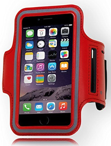 "Runners Sporty Red Armband with Key Holder  iPhone 6, 4.7"" - BastexShop"