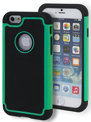 "Hybrid  Teal Case Cover + Black  Silicone  iPhone 6, 4.7"" 6th Gen - BastexShop"