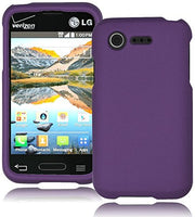 Hybrid Purple Case Cover  LG Optimus Fuel L34C - BastexShop