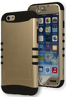 "Hybrid  Gold Ribbed Case Cover + Black  Silicone   iPhone 6 4.7"" - BastexShop"