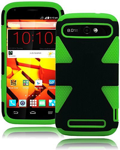 Hybrid Protective Green and Black Case Cover  ZTE Warp Sync N9515 - BastexShop