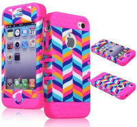 Wireless  High Impact Hybrid Case  Apple iPhone 4, 4s - Pink S - BastexShop