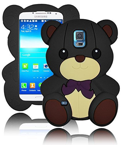 Character Silicone Case  Samsung Galaxy S5 i9600 - Black and Tan - BastexShop