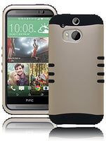 HTC One M8, Champagne Gold and Black Hybrid Protective  Case Cover - BastexShop