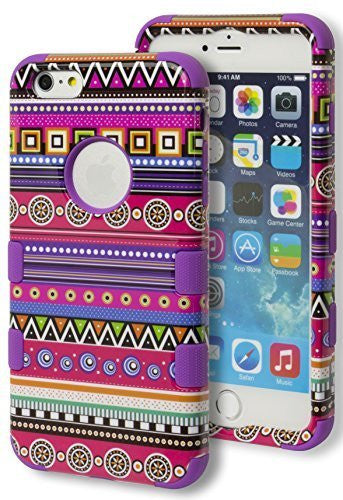iPhone 6 5.5 Plus Hybrid Protective  Purple Case Aztec Tribal  Case - BastexShop