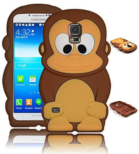Character Silicone Case  Samsung Galaxy S5 i9600 - Brown & Tan M - BastexShop