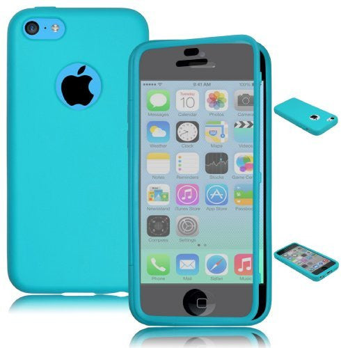 TPU Wrap Up Case  iPhone 5c - Sky Blue  Rubber Gel Skin Case - BastexShop