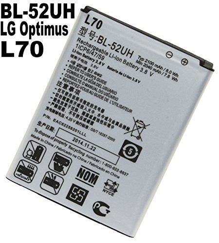Replacement Battery  L70 LG Optimus - BastexShop
