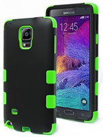Note 4 Case,    Durable Hybrid Protective Case -  Green Si - BastexShop