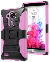 LG G4 Phone Case,    Hybrid Baby Pink Silicone Cover  Blac - BastexShop