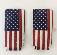 Bastex Amercian Flag Neoprene Coozies For 12 Oz Tall Slim Cans