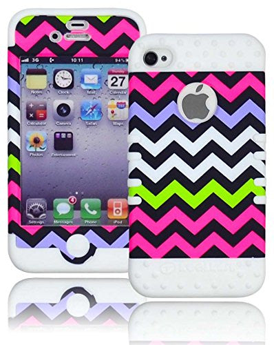 High Impact Hybrid Rocker Case  Apple iPhone 4, 4s - White Silicone - BastexShop