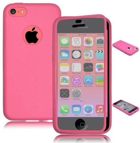 TPU Wrap Up Case  iPhone 5c - Hot Pink  Rubber Gel Skin Case