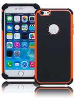 "Hybrid Protective Black and Orange Armor Protective Case  iPhone 6 Plus, 5.5"" - BastexShop"
