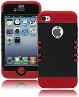 Hybrid Case  iPhone 4, 4g, 4s, 4gs, 4th Generation - Bla - BastexShop