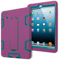 Teal/Lavendar Silicone with  Kickstand Robotic Design Case iPad Mini 2 - BastexShop