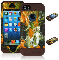 Hybrid Case  iPhone 5, 5s, 5th Generation - Brown Silico - BastexShop