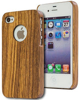 Apple iPhone 4, 4s, Actual Real Wood [Zebrawood]  Phone Case Cover - BastexShop