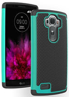 LG G4 Phone Case,    Hybrid Black Silicone Cover  Teal and - BastexShop