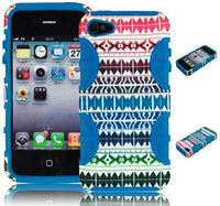 Hybrid Case  iPhone 4, 4s, 4th Generation - Blue Silicon - BastexShop