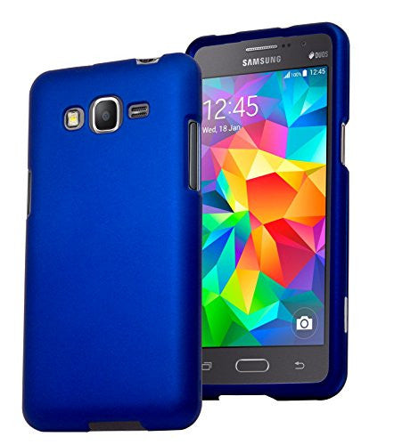 Galaxy Grand Prime,    Blue Rubberized Snap On Case Cover - BastexShop