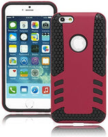 "Black Honeycomb Silicone Cover with Pink Case  iPhone 6, 4.7"" - BastexShop"