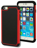 "Hybrid Deluxe Red Shock Armor Case  iPhone 6 Plus, 5.5"" 6th Generation - BastexShop"