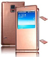 Leather Flip Case  Samsung Galaxy S5 i9600 - Metallic Copper Toned - BastexShop