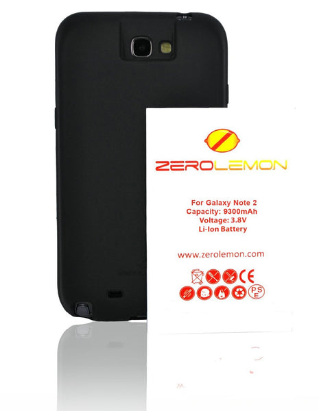 Samsung Galaxy Note 2, ZeroLemon 9300mAh Extended Battery + Case