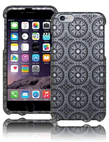 Snap On Protective Case Cover - Silver Antique Circles  iPhone 6, 4.7""