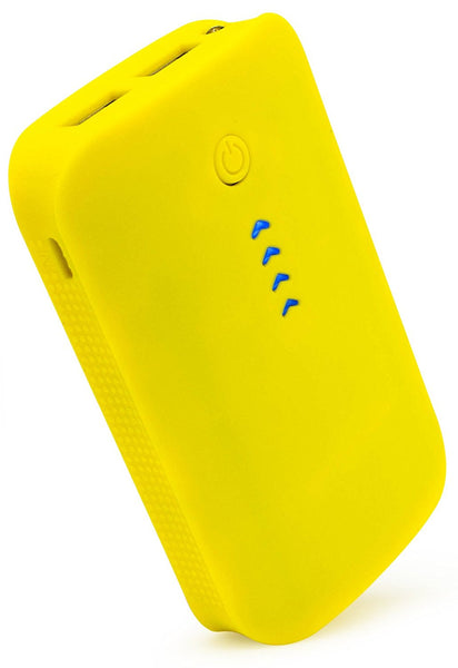 6000mAh Portable Power Bank with Duel USB Ports (Yellow) - BastexShop